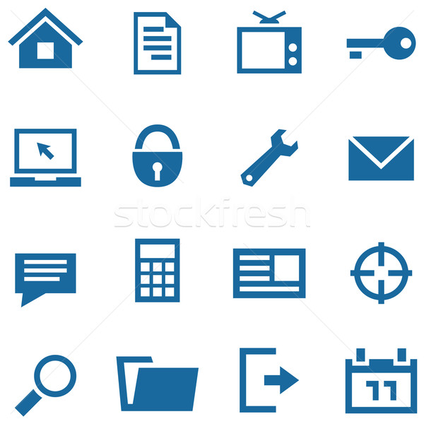 Icons set for web and mobile apps. Stock photo © borysshevchuk