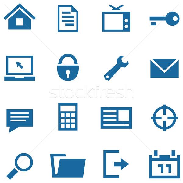 Ikon szett háló mobil appok egyszerű vektor Stock fotó © borysshevchuk