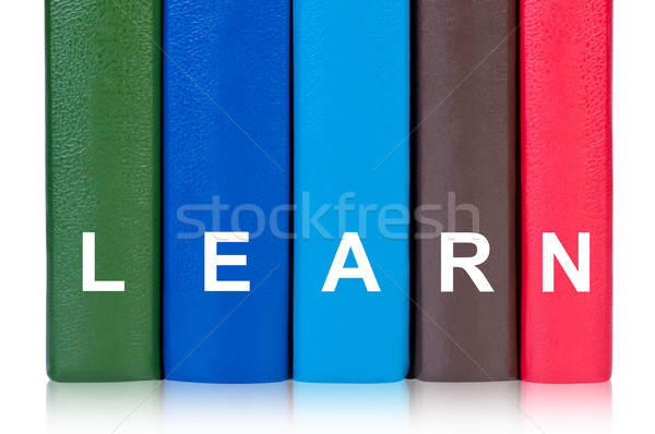 Books with word learn concept of education. Stock photo © borysshevchuk