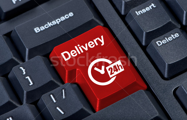 Delivery button with clock 24h. Stock photo © borysshevchuk