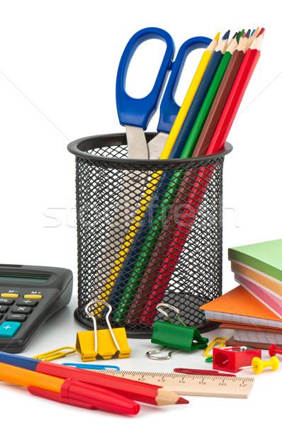 ストックフォト: 学校 · オフィス · 塗料 · 鉛筆