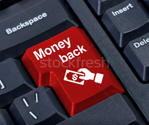 Money back button. Stock photo © borysshevchuk