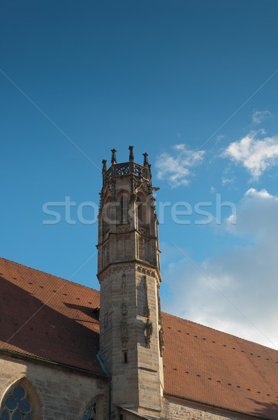 Toren dak gothic oude steen Stockfoto © borysshevchuk