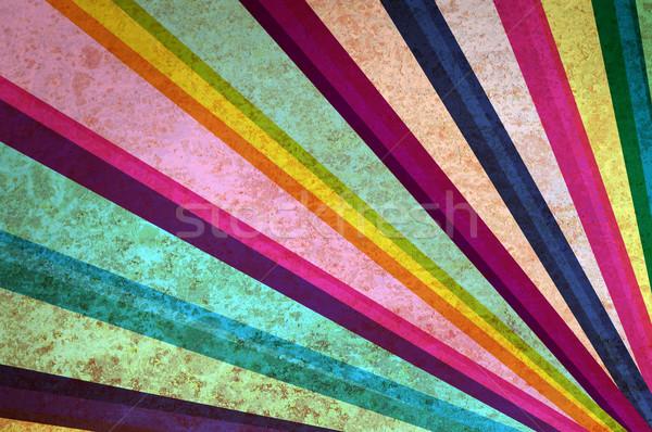 Zonnestralen abstract grunge verf frame behang Stockfoto © borysshevchuk