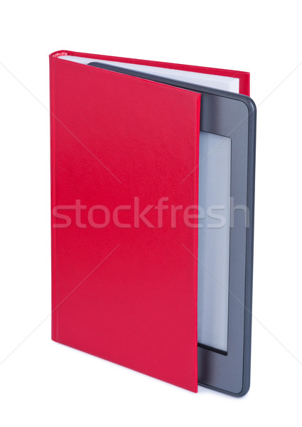 E-reader in book. Stock photo © borysshevchuk