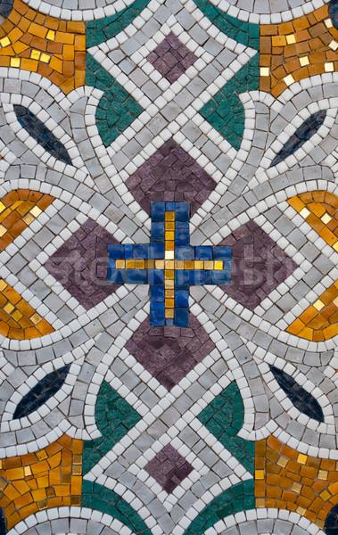Model taş mozaik soyut duvar arka plan Stok fotoğraf © borysshevchuk