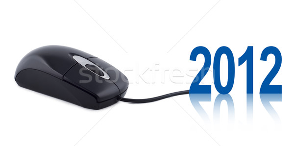 Computer mouse with numbers 2012. Stock photo © borysshevchuk