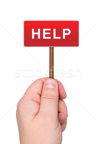 Stockfoto: Teken · woord · helpen · geïsoleerd · witte
