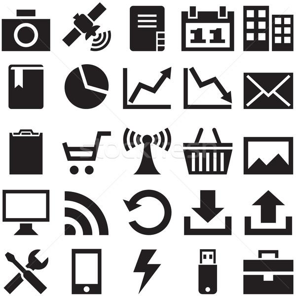 Szett internetes ikonok akta eps10 formátum konzerv Stock fotó © borysshevchuk