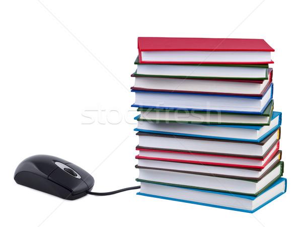 Działalności książki czytania kolor biały Zdjęcia stock © borysshevchuk