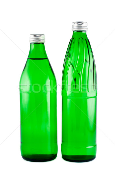 Bottles with mineral water  isolated on white background clippin Stock photo © borysshevchuk