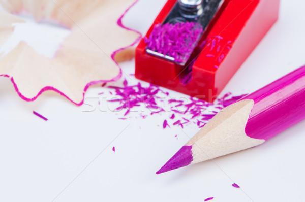 Kolorowy farbują temperówka papieru farby Zdjęcia stock © borysshevchuk