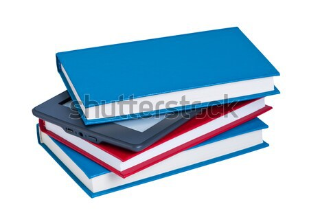 Books with e-reader. Stock photo © borysshevchuk