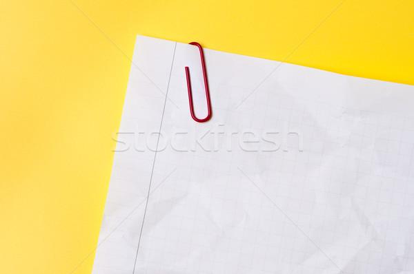 лист скрепку служба образование Дать желтый Сток-фото © borysshevchuk