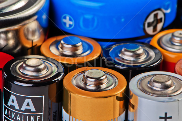 Batteries and accumulators close up. Stock photo © borysshevchuk