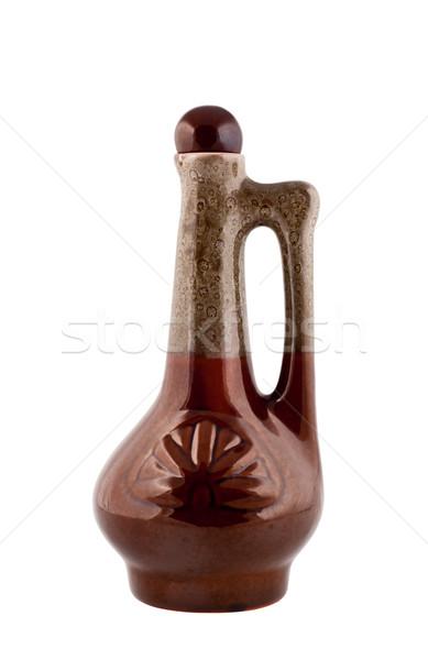 Ceramiczne butelki uchwyt pić Fotografia Zdjęcia stock © borysshevchuk