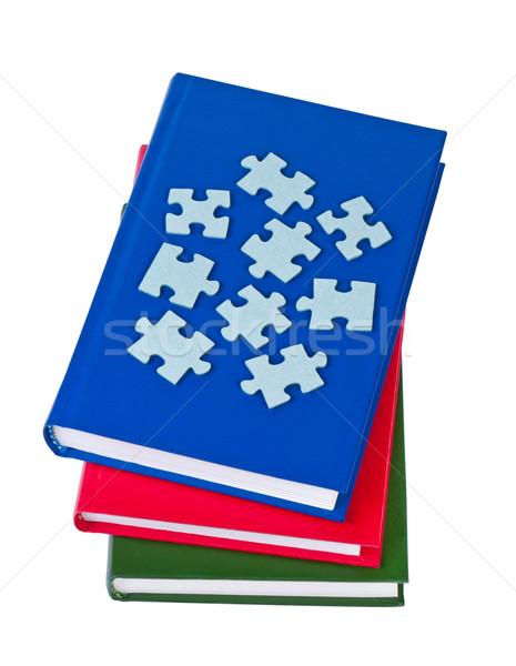 Boeken geïsoleerd witte business boek achtergrond Stockfoto © borysshevchuk