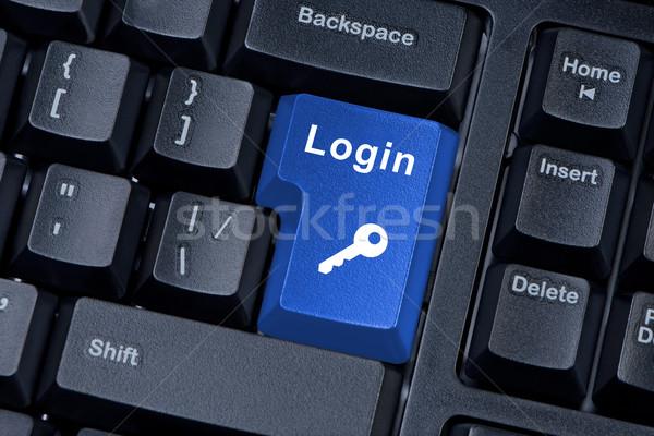 Botón teclado palabra login clave icono Foto stock © borysshevchuk