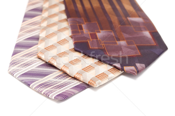 Neckties isolated white. Stock photo © borysshevchuk