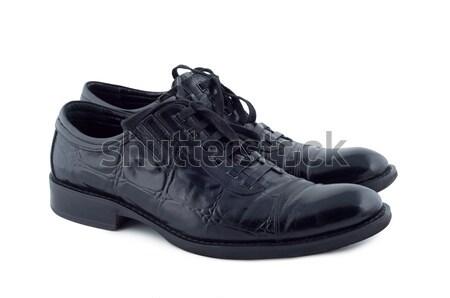 Schoenen witte geïsoleerd schaduw beneden mode Stockfoto © borysshevchuk