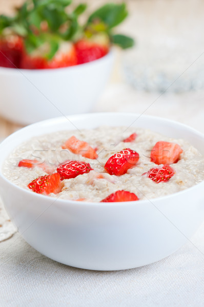 Breakfast Cereal With Strawberries Stock photo © borysshevchuk