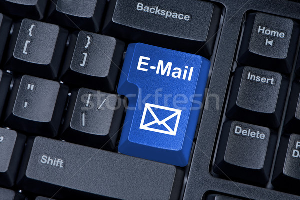 Stockfoto: E-mail · knop · envelop · icon · toetsenbord
