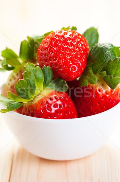 Kom vers aardbeien heerlijk Rood Stockfoto © borysshevchuk
