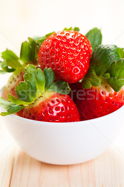 Bowl Of Fresh Strawberries Stock photo © borysshevchuk