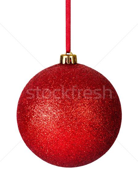 Weihnachten Spielerei rot Band isoliert weiß Stock foto © Bozena_Fulawka