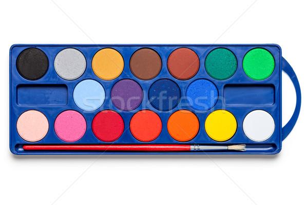 Watercolor paints Stock photo © Bozena_Fulawka