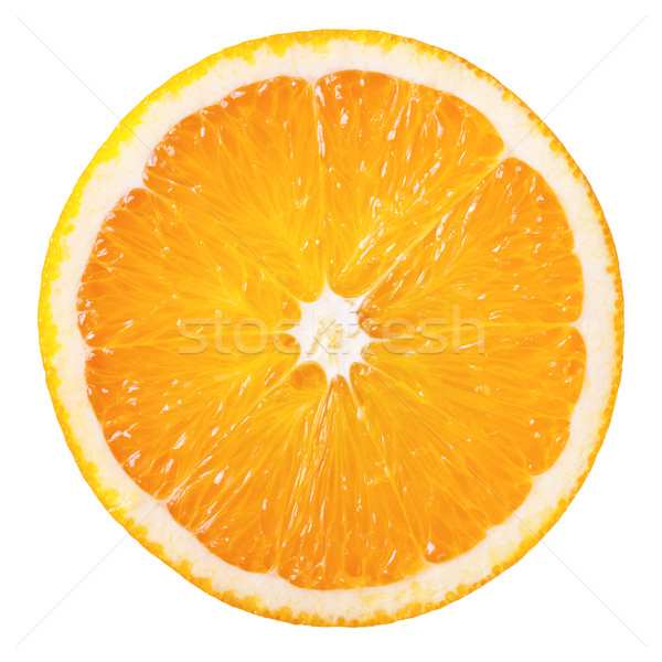Pomarańczowy plasterka plaster świeże pomarańczowy odizolowany biały Zdjęcia stock © Bozena_Fulawka