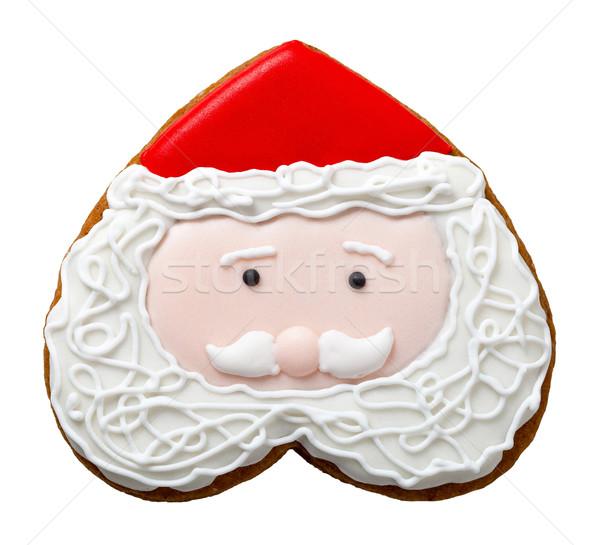 Christmas peperkoek cookie geïsoleerd witte kerstman Stockfoto © Bozena_Fulawka