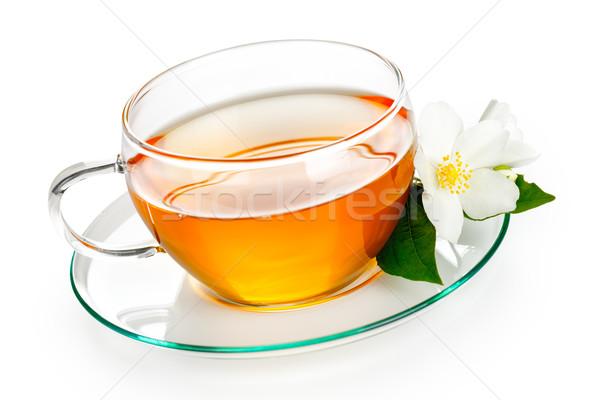 çay ot çiçek beyaz arka plan fincan Stok fotoğraf © Bozena_Fulawka