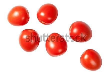 Cadere prugna pomodori isolato bianco top Foto d'archivio © Bozena_Fulawka