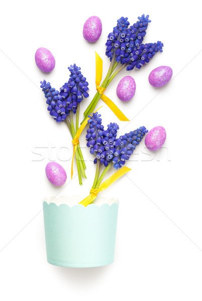Easter Composition on White Background Stock photo © Bozena_Fulawka