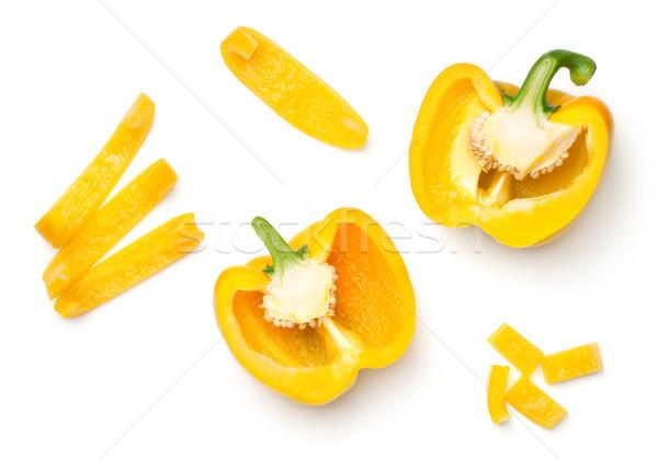 Geel paprika geïsoleerd witte top Stockfoto © Bozena_Fulawka