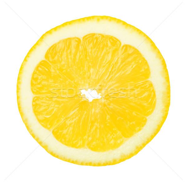 Slice of Lemon Fruit Isolated on White Background Stock photo © Bozena_Fulawka