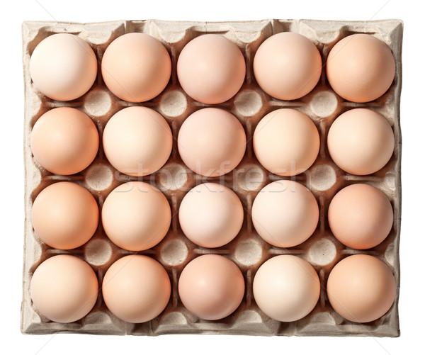 Chicken Eggs in Container Stock photo © Bozena_Fulawka