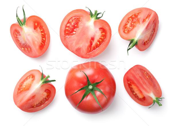 Stok fotoğraf: Pembe · domates · yalıtılmış · beyaz · üst · görmek