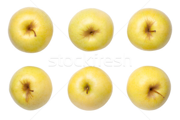 Golden Delicious Apples Isolated on White Background Stock photo © Bozena_Fulawka