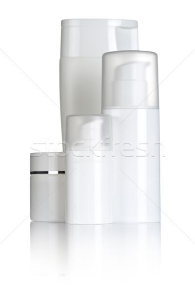 Kozmetikai üvegek fehér egészség szépségipari termékek test Stock fotó © Bozena_Fulawka