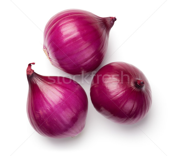 Red Onions Isolated on White Background Stock photo © Bozena_Fulawka