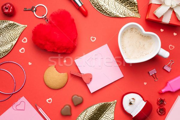 Valentijnsdag top vrouw papier meisje Stockfoto © Bozena_Fulawka
