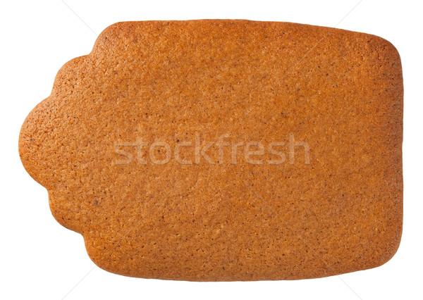 Mézeskalács címke süti izolált fehér felső Stock fotó © Bozena_Fulawka