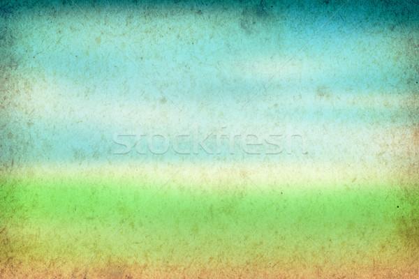 Tavasz zöld kék klasszikus papír textúra textúra Stock fotó © Bozena_Fulawka