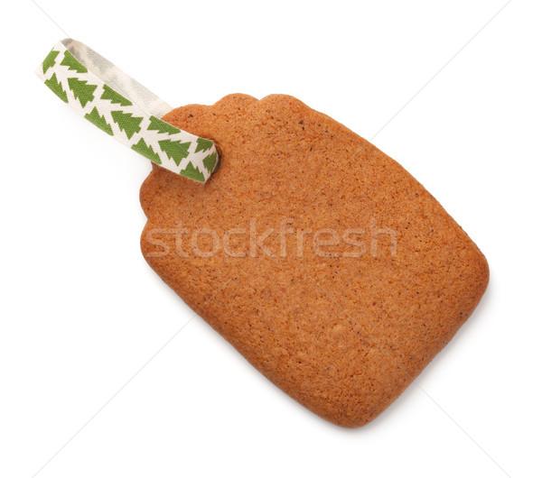 Peperkoek label cookie lint geïsoleerd witte Stockfoto © Bozena_Fulawka