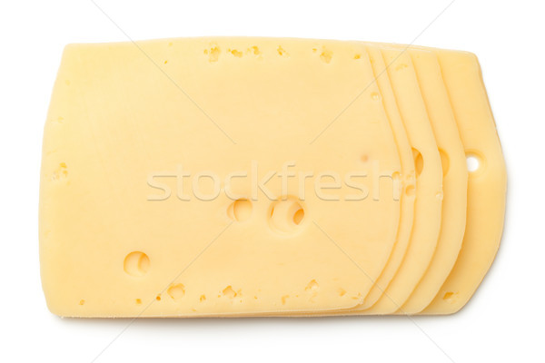 Cheese Slices Isolated on White Background Stock photo © Bozena_Fulawka