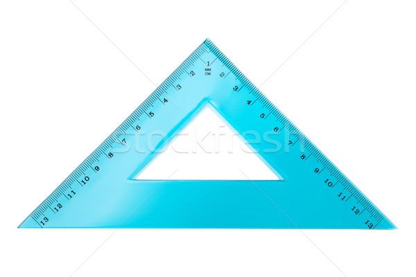 Set Square Triangle Isolated on White Background Stock photo © Bozena_Fulawka