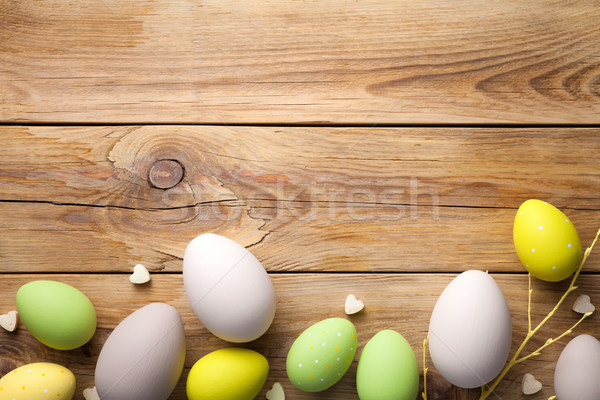 Easter Background with Easter Eggs Stock photo © Bozena_Fulawka