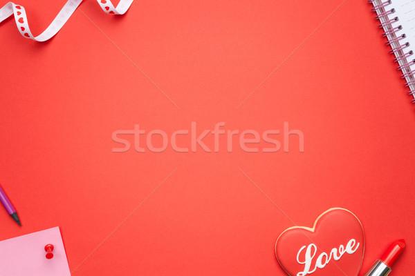 Valentijnsdag exemplaar ruimte top vrouw meisje Stockfoto © Bozena_Fulawka